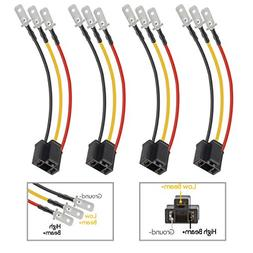 Partsam H4 9003 Wiring Harness Headlights Wire Sockets H4 to