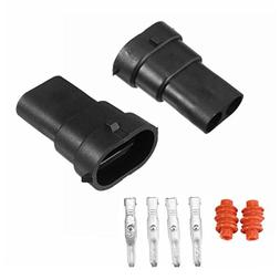 2PCS H8 H9 H11 880 881 Male Connector HID/LED Plug Socket Ad