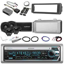 harley audio package of kenwood kmr-d765bt bluetooth cd mp3