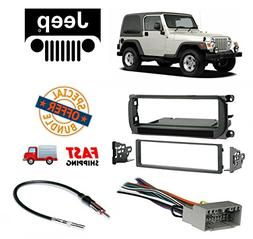 Jeep Radio Stereo Install Dash Kit + wire harness And antenn