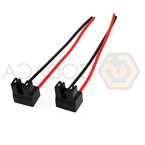 2 x Female Plastic Headlight Connector Pigtail Plug Adapter