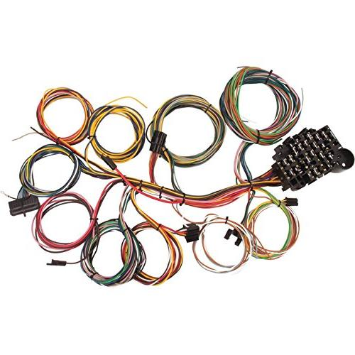 22 Circuit Universal Street Rod Wiring Harness w/Detailed In