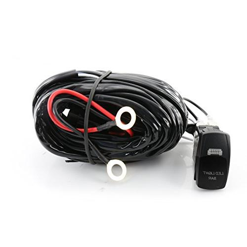 9ft 40A 12V Switch & Relay Wiring Harness Kit LED Fog Work L