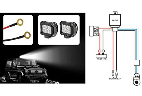AutoSonic 2 Heavy for LED Work 12V 40A Relay, switch included, Fitment Bar Life Time