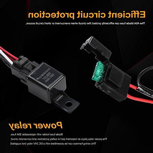 LED Bar 12V 40Amp Fuse Relay ON/Off