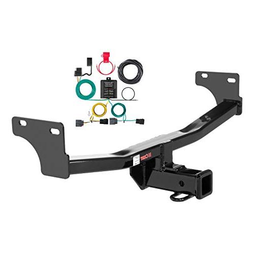 Curt Manufacturing 99318 Class 3 Hitch Kit and Wiring Harness 2 Pack 2 Receiver, 4-Way Flat, 2 Trailer Ball