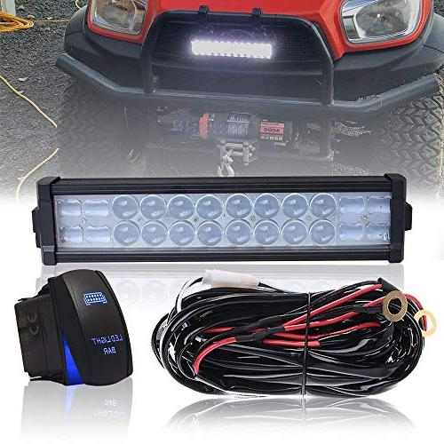 "DOT 14"" Inch 72W Led Light Bar Combo Grill Windshield Bumper"