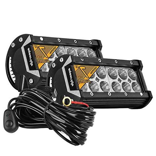 Eyourlife Led Light Bar with Wiring Harness Kit,7 Inch 36W