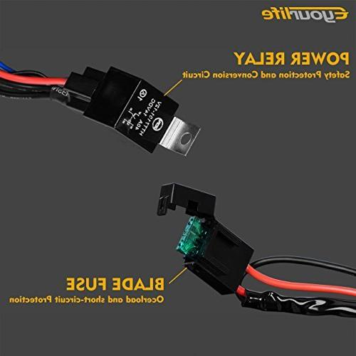 Eyourlife Duty Harness for 300W 40A Relay Switch Relay 14AWG Length Universal Fitment