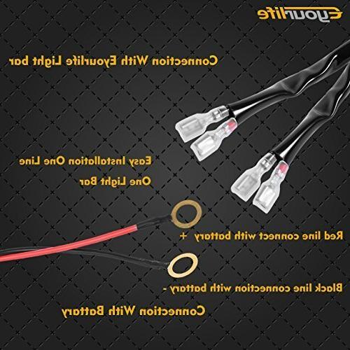 Eyourlife Wiring Harness, LED Light Wiring Kit 180W Fuse Relay On/Off Switch Relay Heavy Fitment