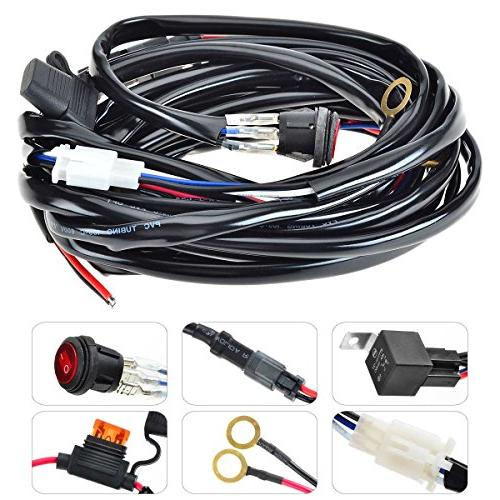 KAWELL LED Wiring Harness Include Switch Kit Suppot 300W LED Light on