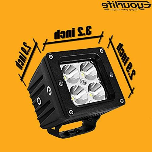 Led Light Bar Wiring 20W Cube Fog Spot Lights Off Road Work Pods Bright Mounting Brckets 4WD SUV
