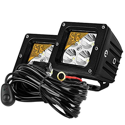 Led Light Bar With Wiring Harness Kit,Eyourlife 2PCS 20W 3.2