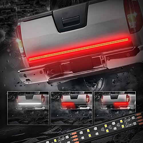 MICTUNING 60 Inch 2-Row LED Truck Tailgate Light Bar Strip R