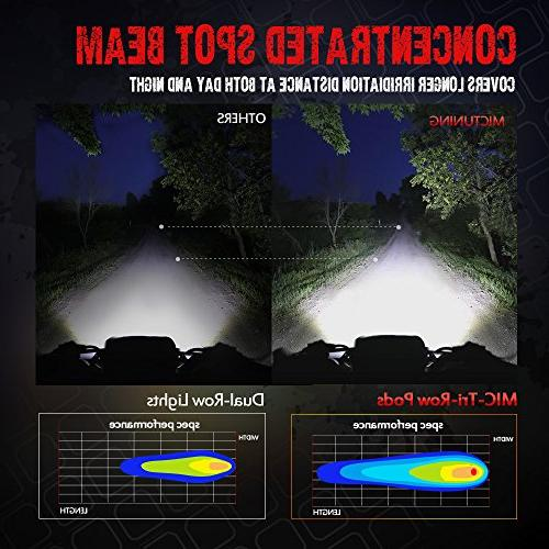 Pods, 4Inch 36W Flood Led Light 3240lm Off Driving Fog Lights Jeep SUV Boat Motorcycle
