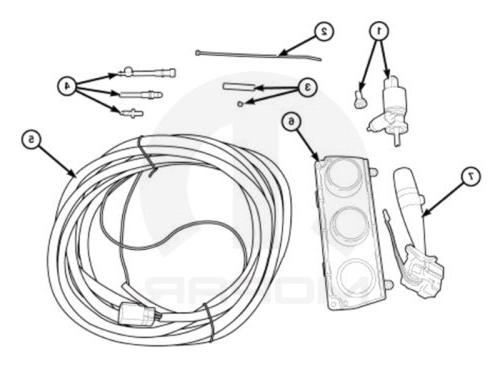 Mopar Hard Top Wiring Package - 82212860