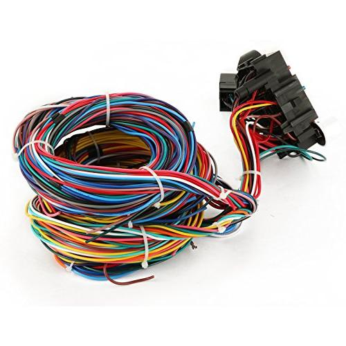 Mophorn 21 Circuit Harness Kit Wiring Harness 21 standard Color Wiring for Chevy Mopar Ford Chrysler Universal