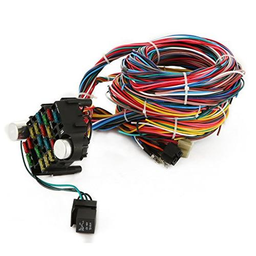 Mophorn Circuit Wiring Harness Wires Wiring Harness Color Wiring Kit for Chevy Ford Universal