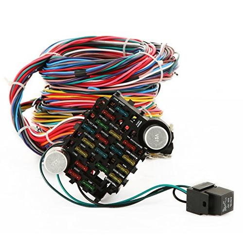 Mophorn 21 Circuit Wiring Wiring Harness 21 Color for Chevy Hotrods Ford