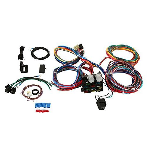 Mophorn Wiring Harness Kit 12 Circuit Hot Rod on universal painless wiring harness, universal hot rod motor mounts, universal gm wiring harness, universal wiring harness diagram, universal hot water heaters for cars, universal wiring harness kit, universal hot rod mirrors,