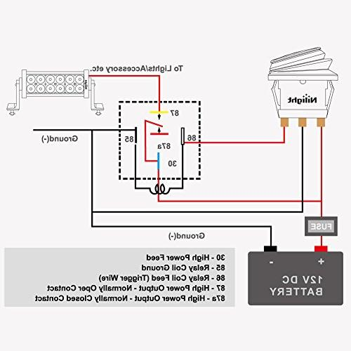Nilight Set SPDT with Relay Socket - 5 Pack,2 years Warranty
