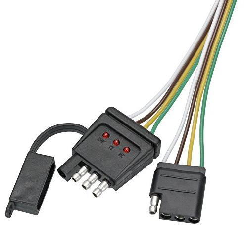 reese towpower 8552600 4-way flat loop connector with led te