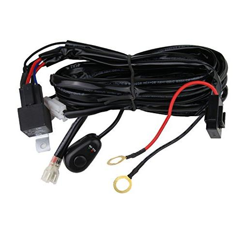 Senlips Led Light Bar Wiring Harness, 10ft 12V 40A Wiring Ha