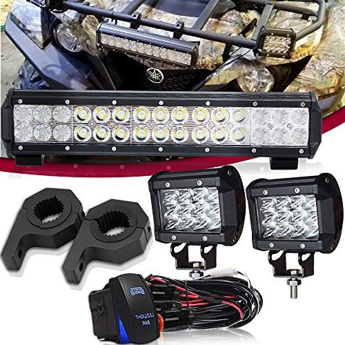 TURBOSII DOT 14 Inch LED light bar W/Horizontal Bar Clamp Mo