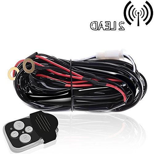 TURBOSII Remote Control Wiring Harness for Led Light Bar wit