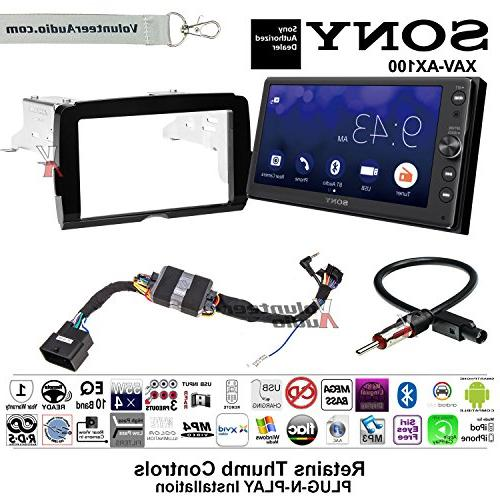 Volunteer Audio 2014-2017 Sony XAV-AX100 Harley Davidson Aftermarket on aftermarket stereo adapter box, aftermarket wire harness, aftermarket radio with navigation, aftermarket radio connectors, aftermarket radio antenna, aftermarket stereo color codes, 2012 dodge ram radio harness, stereo harness, aftermarket engine harness, jvc radio harness,