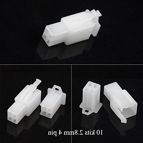 WMYCONGCONG 2 3 4 6 9 Automotive Electrical Wire Connectors Header Crimp Wire 25 4mm Motorcycle Bullet Connector