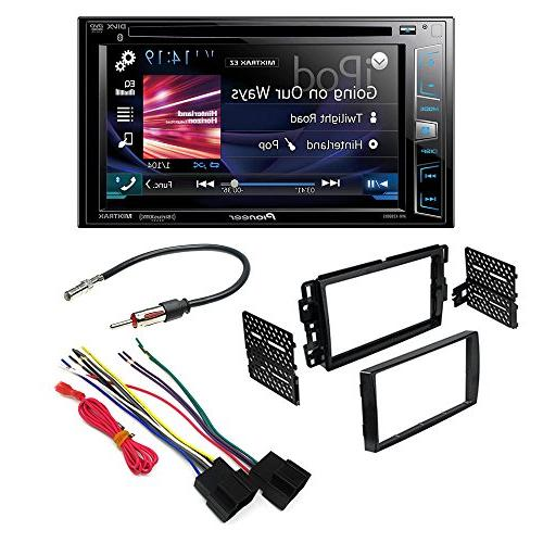 Double DIN Car Stereo Dash Kit Harness Antenna for Buick Chevy GMC Saturn 2006-u