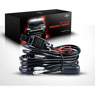 led light bar wiring harness with 12v