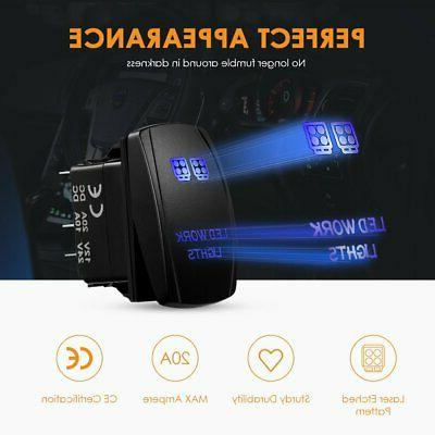 Auxbeam LED Wiring Harness Switch 3Pcs Switching Lines ...