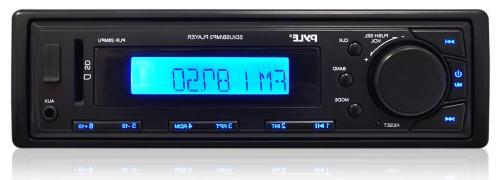 SD /& Aux Inputs LCD Display /& Preset Station Memory Car Stereo Head Unit Receiver Premium In Dash AM//FM-MPX Tuning Media Radio with MP3 Playback Pyle PLR34M Remote Control Included USB