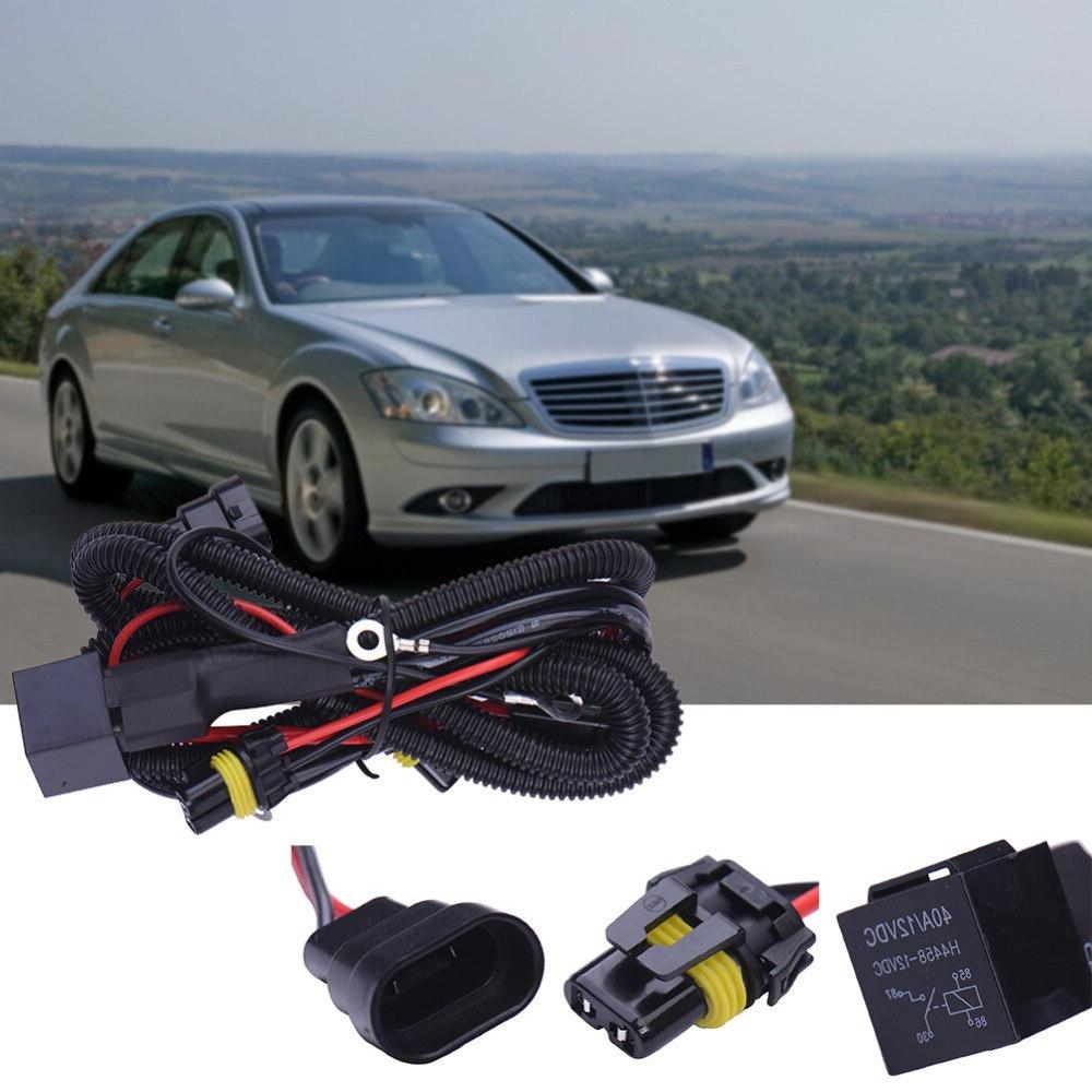Power Cable Line Xenon 12V 40A Extention Fog Lamp Kit Fuse Power