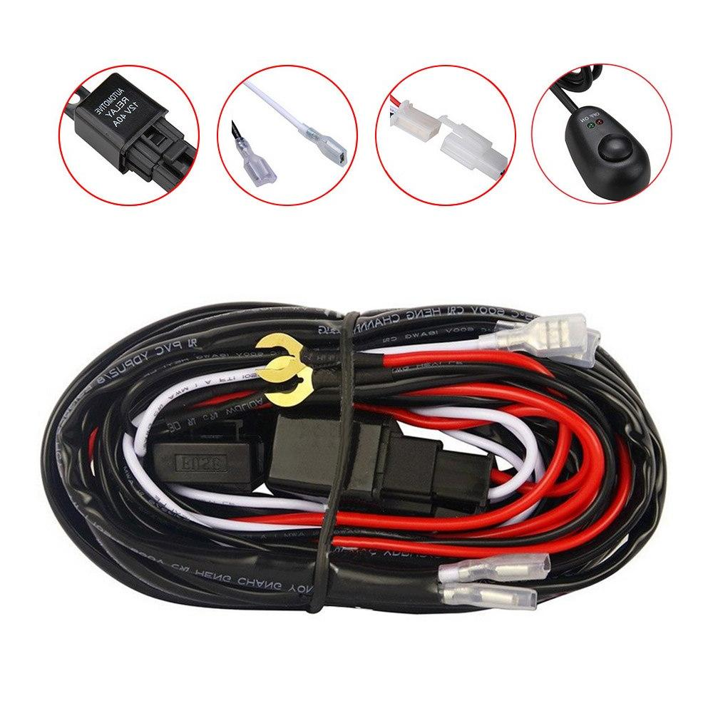 Professional Loom For LED Headlight Assembly Fuse 12V 40A
