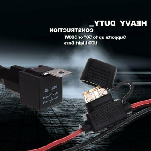 Universal Harness Kit 40A 12V Fuse Work Light Pod