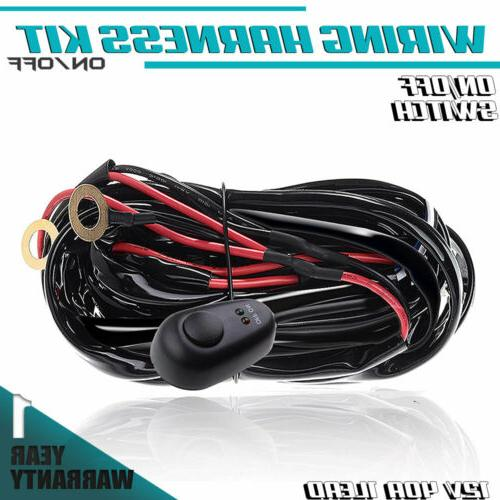 universal wiring harness kit 40a 12v switch