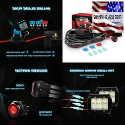 Nilight Led Light Bar Wiring Harness Kit 12V On Off Switch P