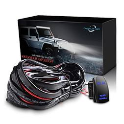MICTUNING 12ft LED Light Bar Wiring Harness - Power Relay La