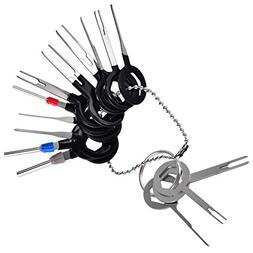 muyimu Car Auto Terminal Removal Tool Kit,Wiring Connector on pin pusher tool, pin pliers, pin crimp tool, socket tool, pin press tool, pliers tool, heavy equipment pin removal tool, molex pin removal tool, pin inserter, pin up auto show, electrical plug pin release tool, flexible corkscrew tool, pin jiffy, cork screw tool, pin tool for clay, nut tool, crimper tool, pin terminal remover, pincers tool, deutsch pin removal tool,