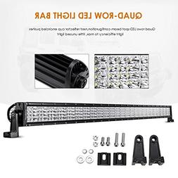 "Auxbeam Quad-Beam Series 52"" LED Light Bar Quad Row300W Wate"