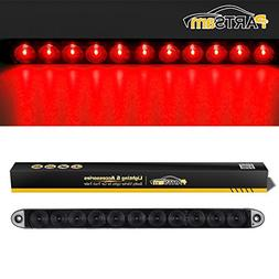"Partsam 15"" Smoke/Red 11 LED Waterproof Car Trailer Truck St"