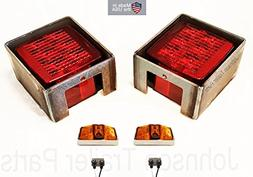 Submersible LED Box Stop Turn Tail Lights, Protective Steel