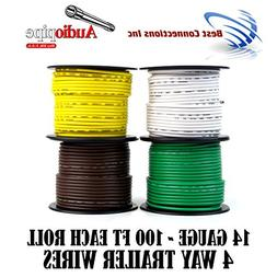 Trailer Light Cable Wiring For Harness 100ft spools 14 Gauge