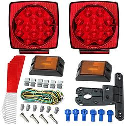 LED Trailer Light Kit - JUNGLEROAD 2018 New 12V Universal, E