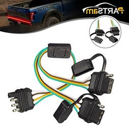 farm & ranch material transport anto 4 wire 4 pin plug flat y-splitter  connector trailer adapter wiring harness