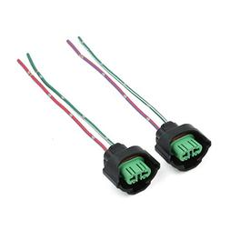 uxcell 2 Pcs H11 Headlight Bulb Female Wire Harness Connecto