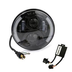 """uxcell 7"""" 60W Round Motorcycle Car LED Projector Headlight f"""